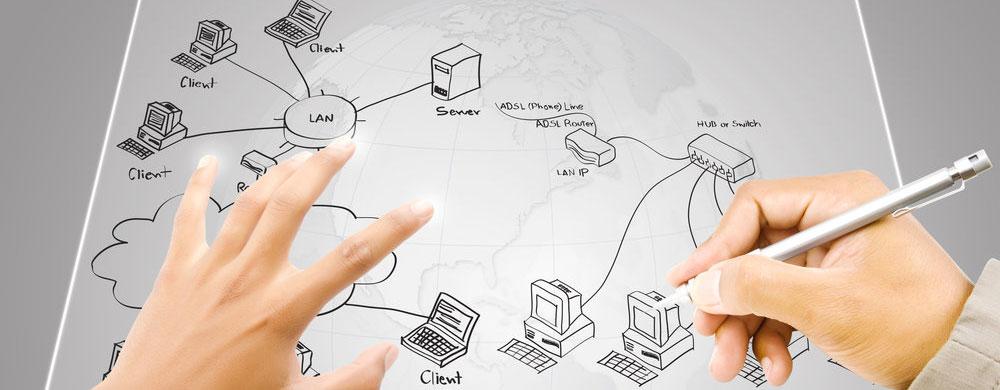 طراحی نقشه شبکه