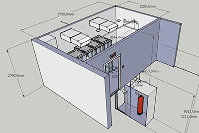 نصب و راه اندازی اتاق سرور