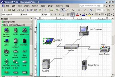 نرم افزار - طراحی شبکه - نقشه شبکه