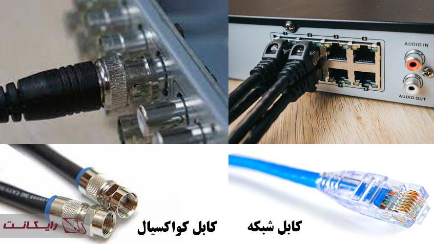 اتصال کابل به DVR